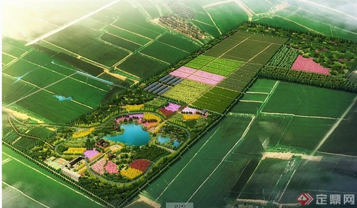 某现代农业花园规划设计jpg方案图[原创]