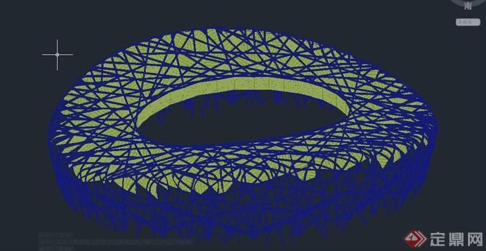 现代某图纸体育馆建筑设计CAD全套v图纸图纸规范鸟巢钢结构图片