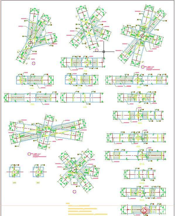 现代某图纸体育馆建筑设计CAD鸟巢v图纸图纸豆拼5mm全套图片