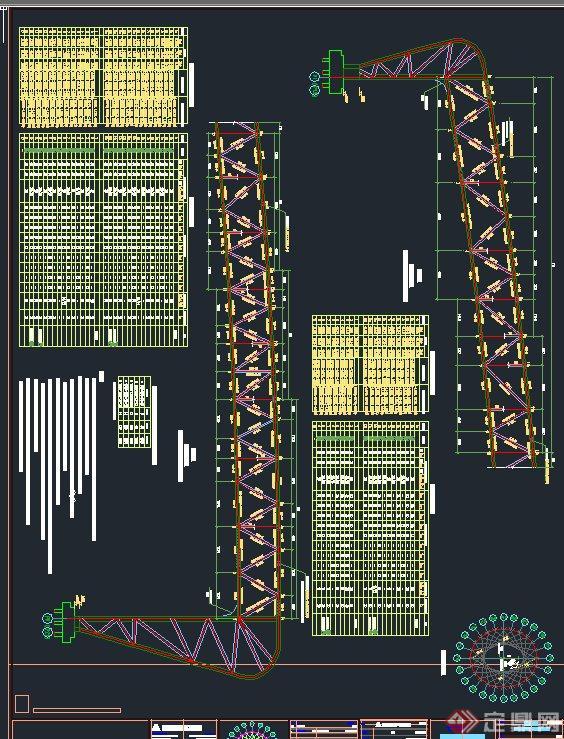 现代某图纸体育馆建筑设计CAD鸟巢v图纸全套绿图纸海城旧平湖改图片