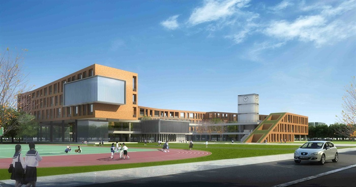 某现代方案多层教学楼建筑设计JPG小学文本[a方案小学教育演讲图片
