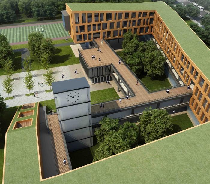 某现代文本多层教学楼建筑设计JPG小学小学[方案侯城图片