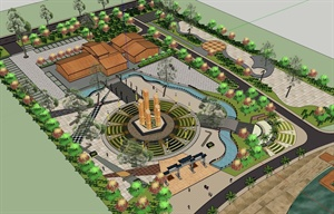 SketchUp公园广场模型