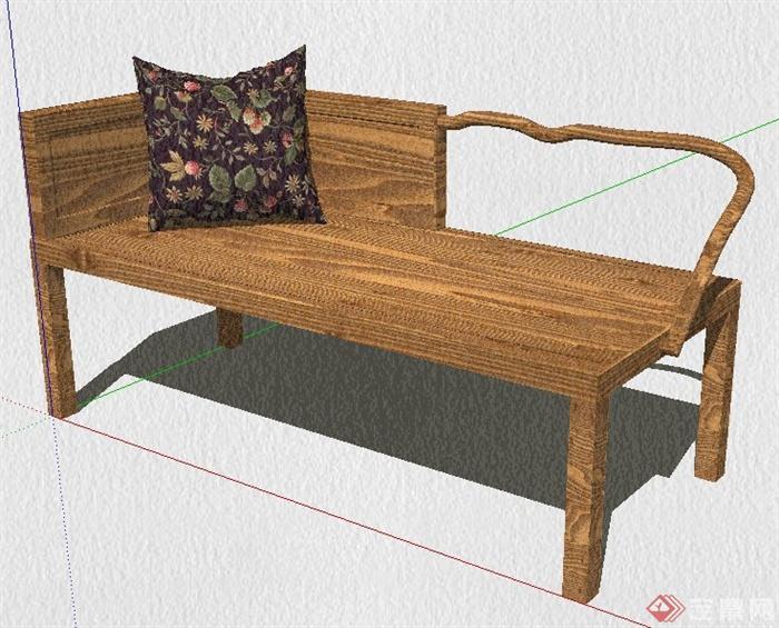 沙发椅su模型