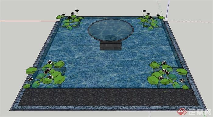 园林景观方形景观水池su模型,整体造型设计简洁大方,模型制作完整,附带合理材质贴图,具有一定参考价值。