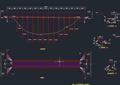 某灌区U形渡槽设计CAD施工图