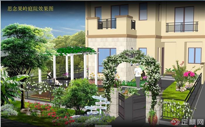 现代风格别墅庭院景观设计(含图纸图片