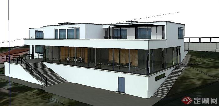 现代别墅图特哈特信息建筑设计su庄园[Moder模型招聘别墅看护风格图片