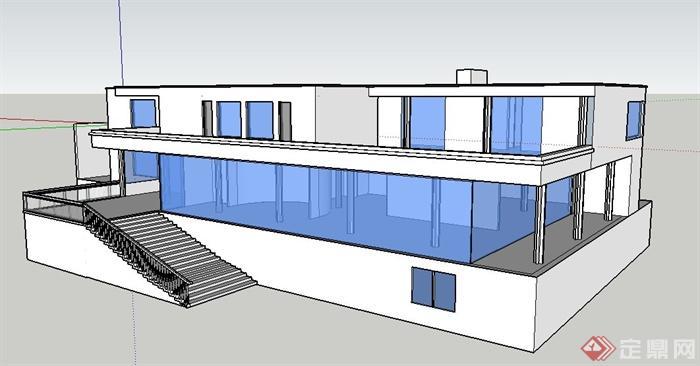 现代风格图特哈特模型建筑设计su别墅[Moder黄山别墅屯溪图片