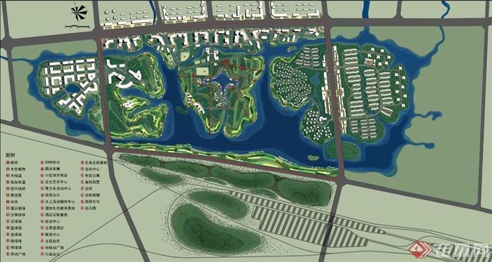 现代某城市滨水公园景观规划设计ppt文本