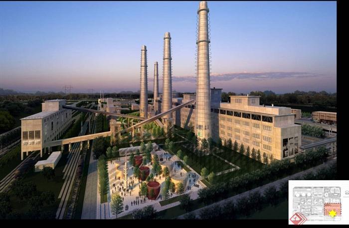 某煤气厂景观规划改造设计PPT文本