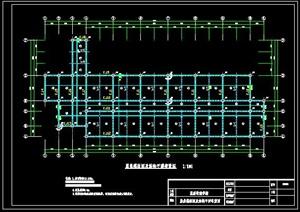 某五层框架结构高校教学楼毕业设计(含结构CAD图及设计计算书)