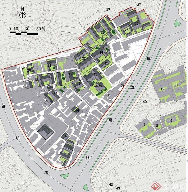 某历史街区规划与保护设计jpg方案图[原创]