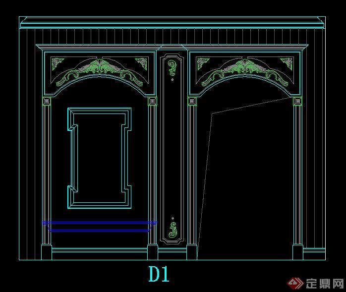 欧式风格展厅室内设计立面图