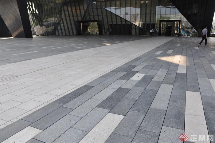现代前海万科企业公馆景观-道路铺装-设计师图库