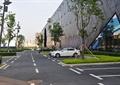 道路景观,停车场,灌木丛,观干乔木