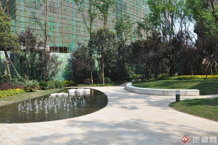 某住宅小区景观设计图-住宅景观喷泉水景园路地面铺装