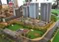 沙盘模型,小区设计,道路景观,高层住宅