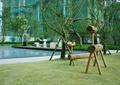 木质小品,树池,水景,乔木