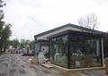 售賣亭,現代亭,亭子,地面鋪裝,玻璃亭