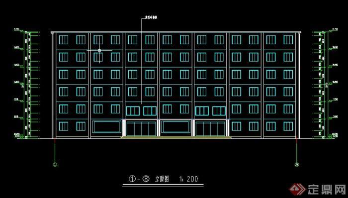 某6层框架旅馆毕业设计(含计算书,建筑,结构图)