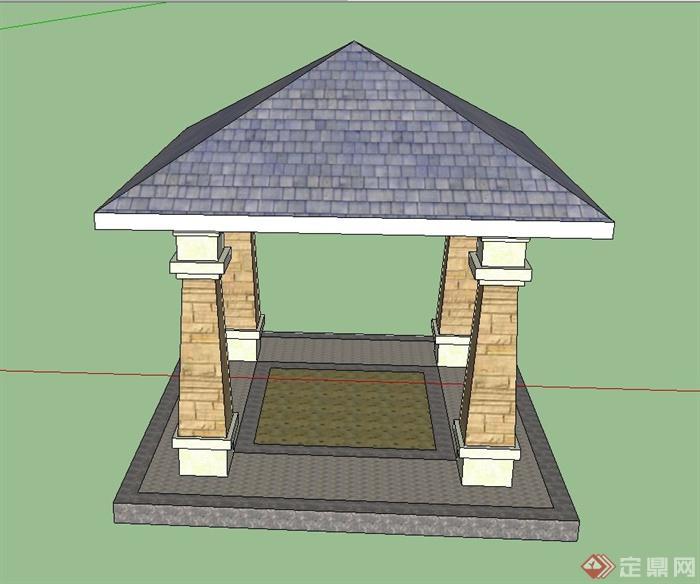 四角铁塔矢量图