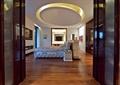 卧室,床,木地板,吊顶