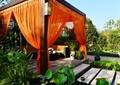 凉亭,汀步,荷花池,景观植物