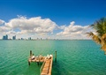 海景,木棧道,木欄桿