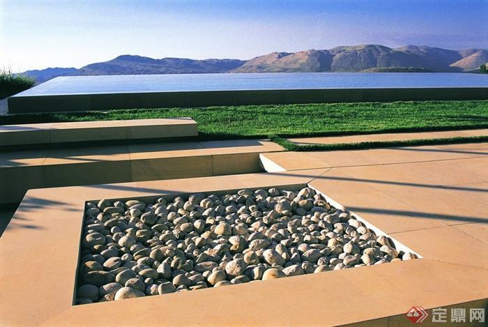 迤逦花池景观设计-卵石图纸铺装山庄-设计师图花台上结构是什么el意思图片