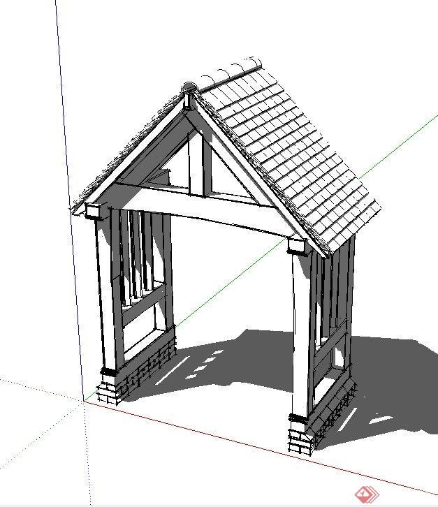 房子结构设计素描