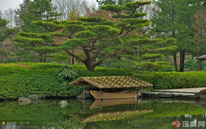水上廊架,水景,滨水景观,绿地景观
