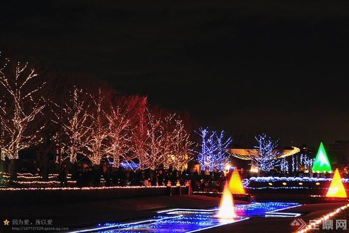 日本昭和纪念公园设计实景图-公园景观灯光水景灯光