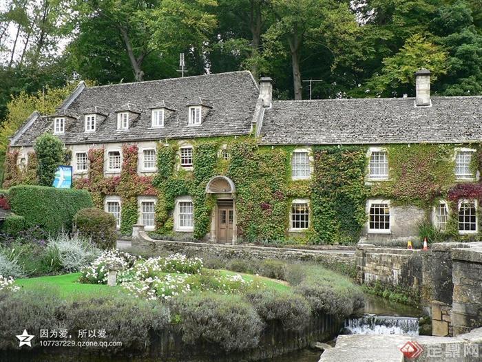 英国最美乡村景观设计实景图-乡村住宅乡村景观水景