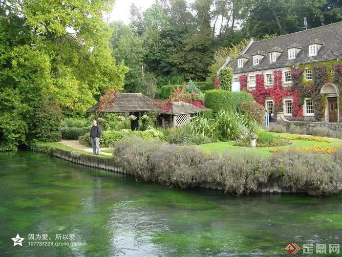 滨水景观,花园景观,庭院景观,乡村住宅,乡村景观,亭子