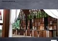 休闲亭,吧台,吧台椅,水晶吊灯,背景墙