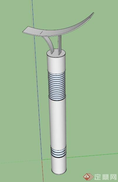 现代简约景观灯柱设计su模型