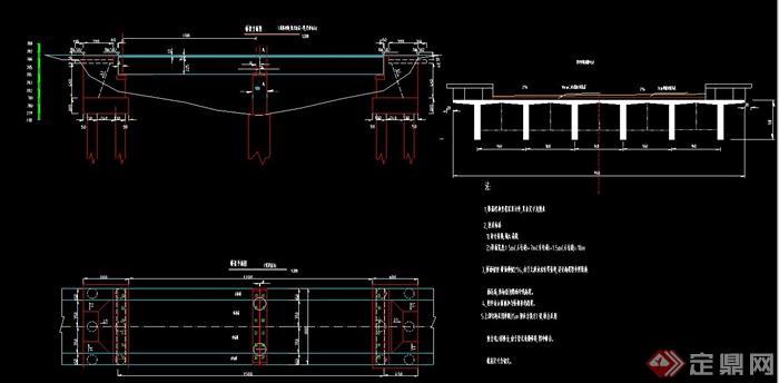 力简支梁桥设计CAD图
