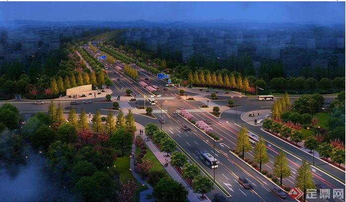 现代某市政道路绿化设计jpg方案图[原创]