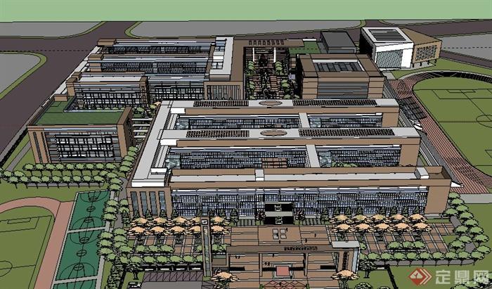 某学校整体景观规划设计