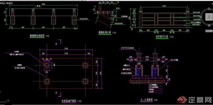 楼梯台阶设计CAD施工图