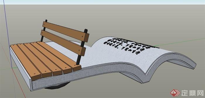 园林景观景观小品及座椅su模型(1)