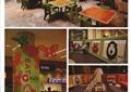 游乐室,儿童餐厅,装饰柱,桌椅