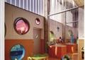 游乐室,儿童游乐室,桌椅,儿童桌椅,装饰墙