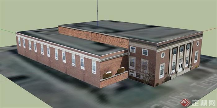 外国某图书馆建筑设计su模型