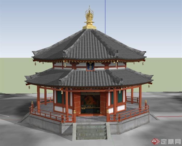 塔建筑设计su模型