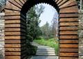 拱门,花园门,石材铺装,台阶