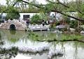 河流景觀,水景,拱橋,花池,汀步,流水景觀