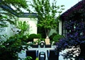 景石,围墙,沙发茶几,庭院景观,绿植