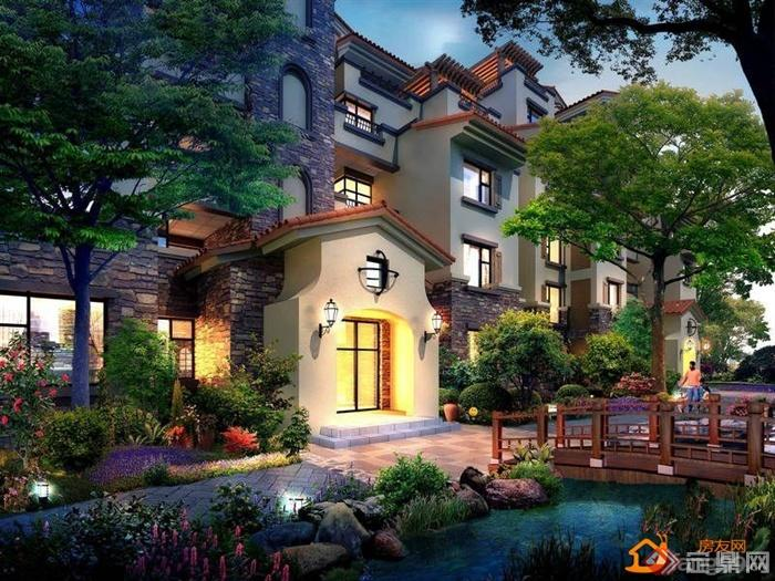庭院,庭院景观,水池,水景